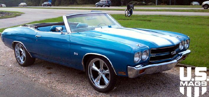 70 Chevelle with U104 20x8 and 20x9.5