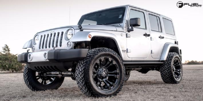 Jeep Wrangler with 20x10 D560 Vapor
